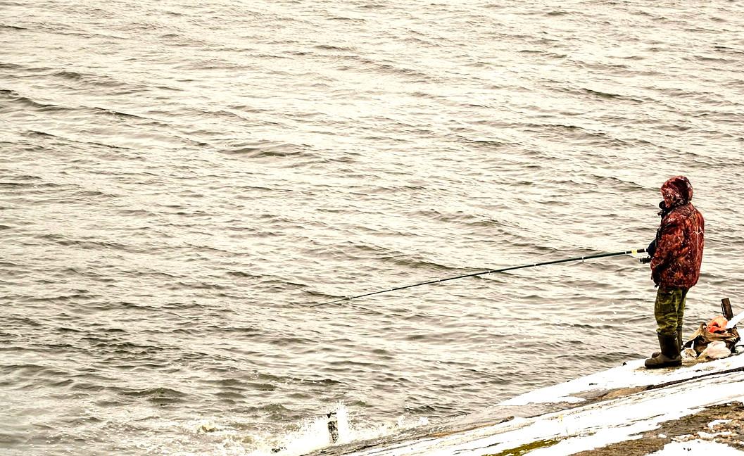 abbigliamento da pesca invernale