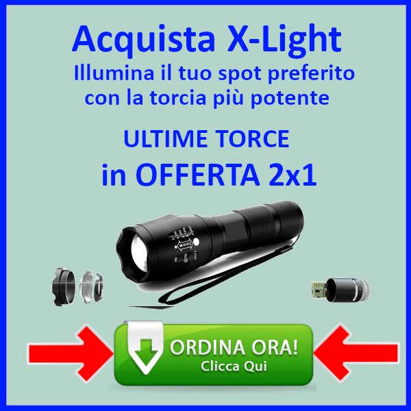 x light torcia potente