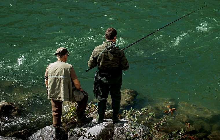 canna da pesca all'inglese