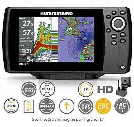 Ecoscandaglio Humminbrid GPS Helix 7 G2 HD