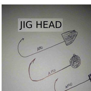 testine piombate pesca a spinning jig head