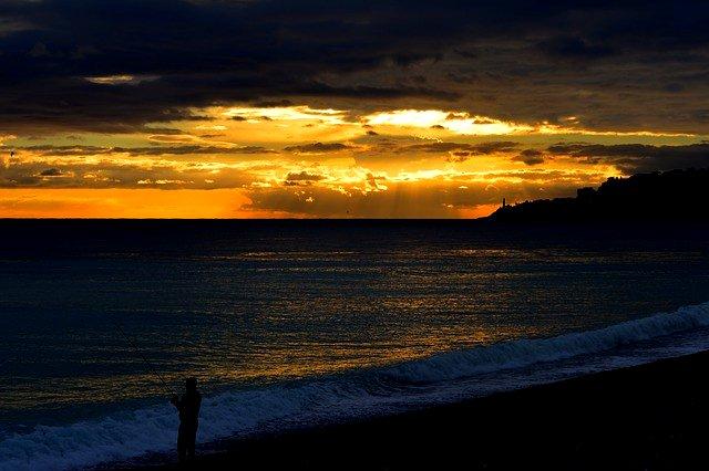 pesce serra tramonto