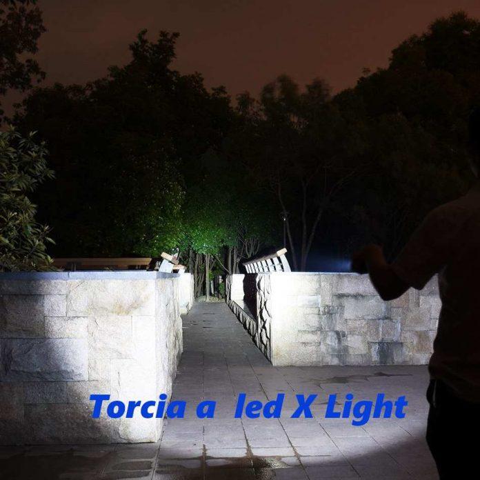recensione torcia led X light